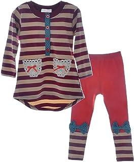 Little Girls Cute Long Sleeve Top & Pant Clothes Set