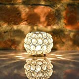 Collectible India Silver Oval Crystal Candle Holder Decorative Tealight Votive Candles Lamp for Table Top Home Wedding Party Birthday Gifts