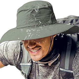 Cooltto Cappello da Pesca Antivento Cappelli alla Pescatora da Uomo Spazioso Traspirante e Impermeabile con Protezione UV ...