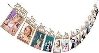 Graduation Photo Banner - Graduation Gift Kindergarten-12 Grade Photo Banner Wall (Brown)