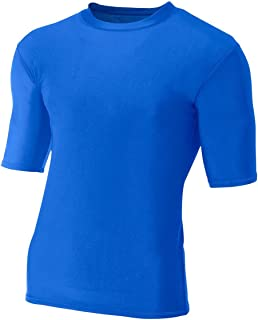 A4 Men's Compression Crew 1/2 Sleeve