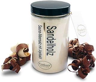 Sel de sauna exfoliant - Bois de santal 400g - Sel de mer avec huile de jojoba vitamine E Body Scrub - Exfoliant douche et...