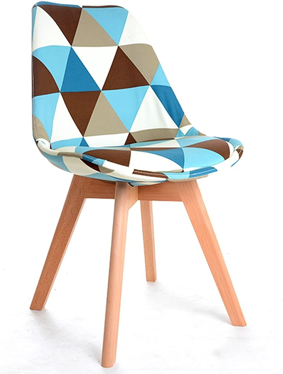 Chairs Solid Wood Dining Chairs Casual Study Makeup Chairs Simple Home Adult Chairs Fabric Chairs Coffee Chairs Dining Room Fashion Chairs (color    B)