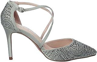 dcb5f27fe8a Alma en Pena Zapato de Tacã³n Mujer V18163 Satinado