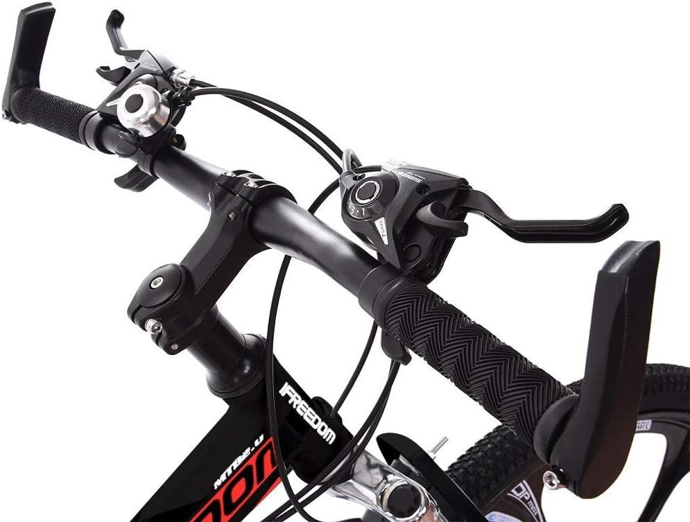 26in Folding Mountain Bike Shimanos 21 Speed Bicycle Full Suspension MTB Bikes for Men//Women,Black TOUNTLETS Mountain Bike