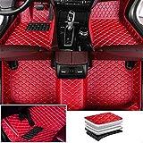 Tuqiang Alfombrillas de coche para Aston Martin Vanquish 2014-2017, todas las estaciones, universales, impermeables, antideslizantes, fáciles de instalar, color rojo, 1 juego