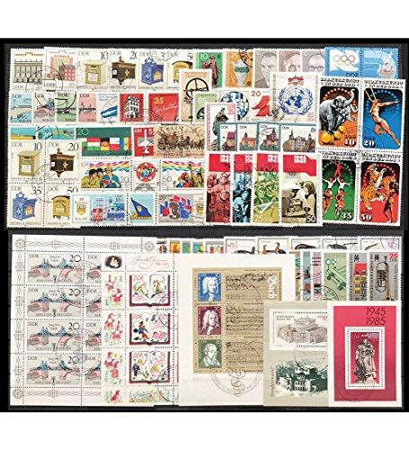 Goldhahn DDR Jahrgang 1985 gestempelt komplett Briefmarken für Sammler