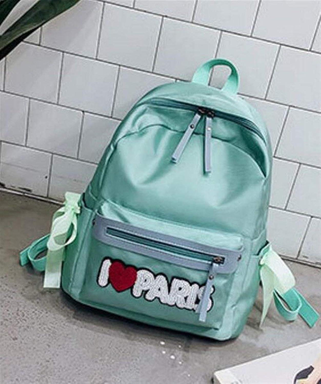 OIBHFO Home Persnlichkeit Ruckscke Mode Nylon Reiverschluss Umhngetasche Student Laptop Rucksack Schultasche (Farbe   grau)