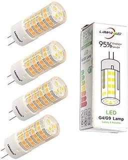 Lampaous Bombilla led G4, luz blanca fría, 5 W, 350 lm, repuesto para bombilla halógena de 40 W, ángulo de haz de 360°, 12...