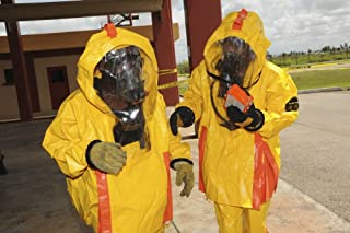 Posterazzi Firefighters dressed in hazmat suits Poster Print (34 x 22)