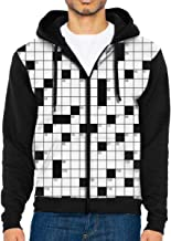 Classic Crossword Puzzle with Black and White Boxes and Numbers1 Youth 3D Printed Hooide Sweatshirt with Pocket