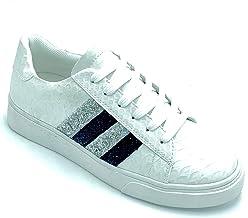 Sneakers con Bande Glitterate
