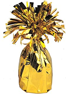 Unique Party Jumbo Foil Balloon Weight, Gold