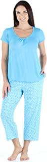 bSoft Women's Sleepwear Bamboo Short Sleeve Top and Capri Pajama Set