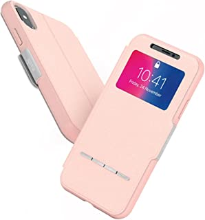 Moshi 99MO072309 SenseCover for iPhone Xs/iPhone X - Slim Portfolio case with Touch Cover (Pink)