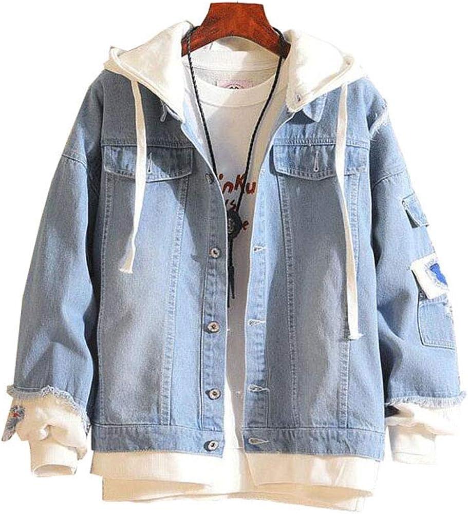 Gumstyle Danganronpa Monokuma Anime Denim Hoodie Jacket Adult Cosplay Button Down Jeans Coat 1 M