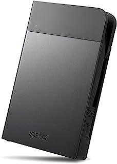 BUFFALO ICカードロック解除対応MILスペック耐衝撃ボディー防滴・防塵ポータブルHDD 1TB ブラック HD-PZN1.0U3-B