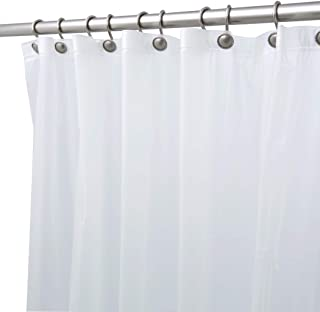 "BINO Shower Curtain Liner, Frosted - 70"" x 72"" - Mildew Resistant Antimicrobial PEVA 8G Shower Curtains for Bathroom Clear Shower Liner"