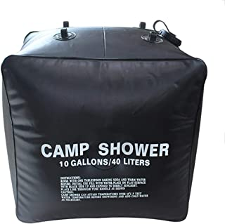 Shangtuo 40Liter / 10Gallon Outdoor Camping Bath Bag Large Capacity Thicken Folding Shower Nozzle Bag