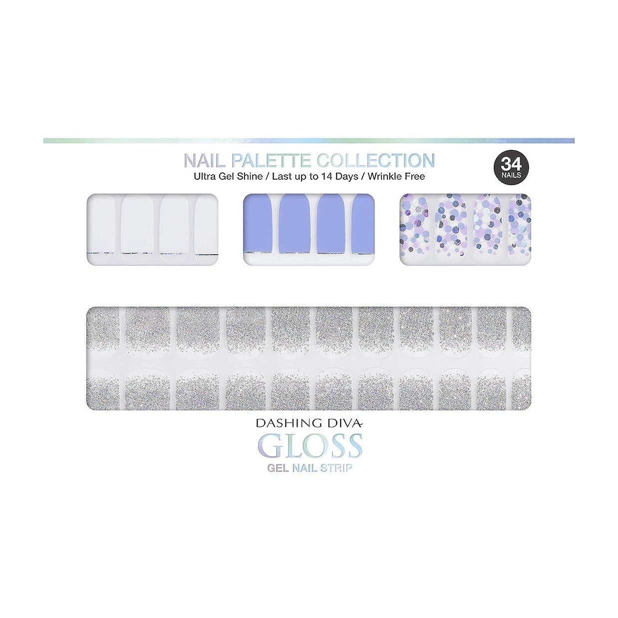 受け入れ望む不安ダッシングディバ グロスジェル ネイルストリップ DASHING DIVA Gloss Gel Nail Strip DGNP09-DURY+ オリジナルジェル ネイルシール Ice #09 Sprinkler