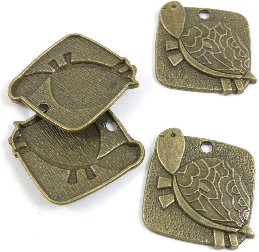 250 PCS Metal Antique Bronze Supplies Charm Raleigh Mall Color Making Jewelry Super-cheap
