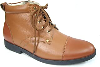 ASM Police Tan Oxford Ankle Leather Uniform Shoes with TPR (Thermo Plastic Rubber) Sole,Leather Insole, Fully Leather Lining and PU Foot pad for Optimum Comfort for Men. Article 106OA