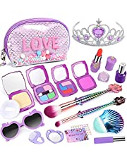 Tacobear Kit de Maquillaje Niñas Falso Juguete de Maquillaje con Bolsa de Maquillaje Cosmética Juguete Princesa Cumpleaños Navidad Regalo para Niña 4 5 6 7 8 años