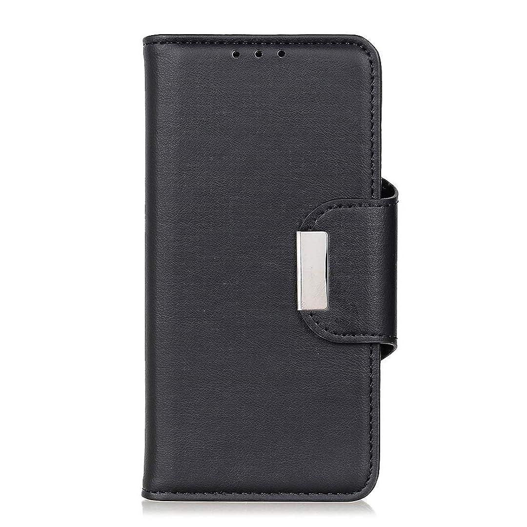 考えるバブルグリットScheam PUレザー Asus Zenfone 5 ZE620KL専用ケース 手帳型 男性と女性のための携帯電話 業務用 ケース 軽量人気 PUレザー カード収納 スタンド マグネット式 スマホケース (黒)