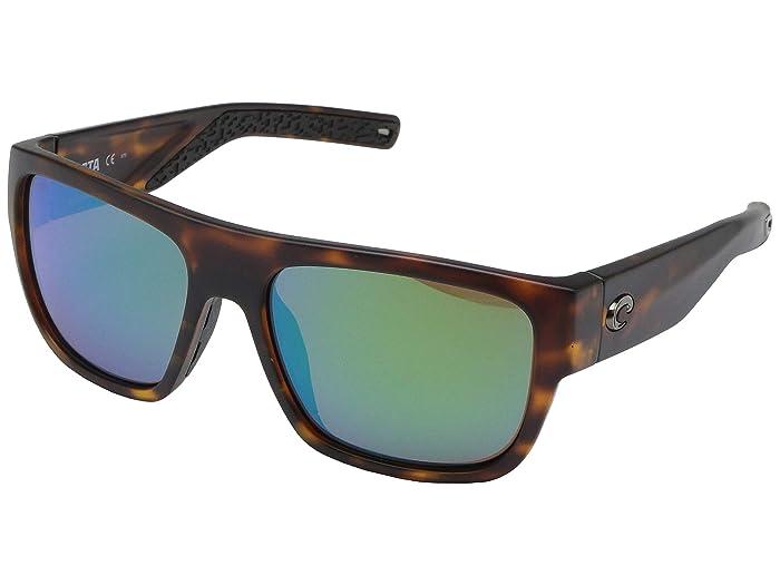 Costa  Sampan (Matte Tortoise Frame/Green Mirror Lens 580G) Fashion Sunglasses
