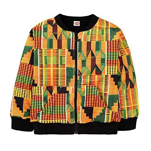 Africa Print Kids Coat Dashiki Jacket Kente Clothes for Boys Girls