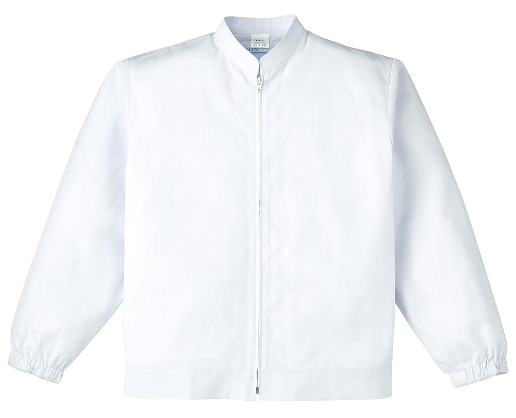 スロベニアウェイトレス版カゼン KAZEN  男子ジャンパー長袖 454-30(ホワイト) 4L