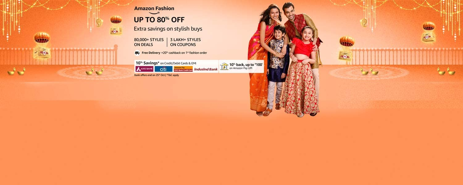 amazon.in - Upto 80% OFF on Fashion and Beauty
