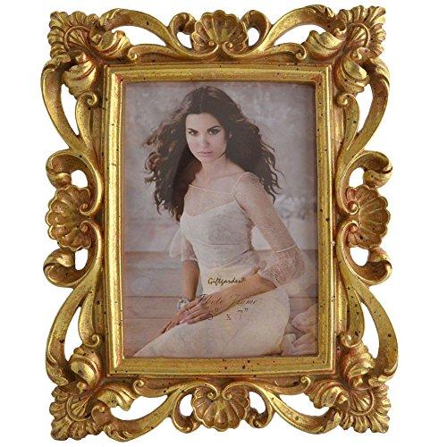 Giftgarden Bilderrahmen 13x18 Gold Vintage Fotorahmen antik barock Photo Rahmen Shabby chic Deko Hochzeit Family edel Geschenk für Freund