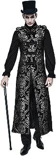 Steampunk Gothic Mens Long Waistcoat Jackets Winter Sleeveless Fashion Vest Coat
