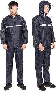Duokon Rain Boot Covers, Oxford Cloth Impermeable Impermeable Impermeable Traje Tira reflectante Trabajo al aire libre Impermeable XXL