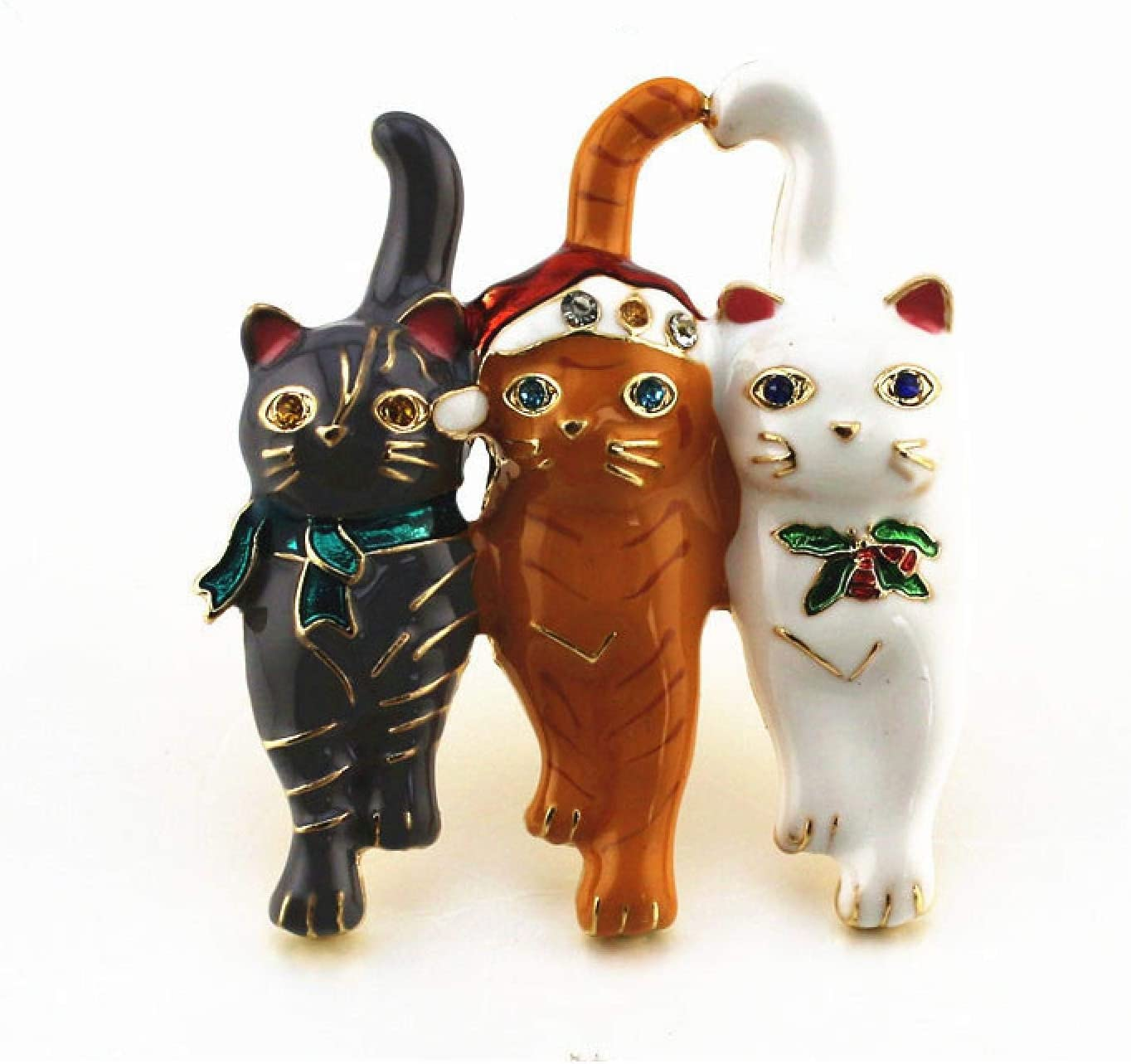 New Three Christmas depot cat brooches Cute Male Vivid Animal and pins Sale price