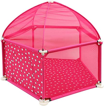 WANNA ME Baby Playpen Children s Baby Crawling Game Fence Baby Toddler Step Fence Child Fence Fence Home Strong and Durable Made from Non-to  Color Pink