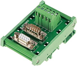 Wolfgo Breakout Connector-DB9-MG6 DIN Rail Mount Interface Module Male/Female Connector Breakout Board