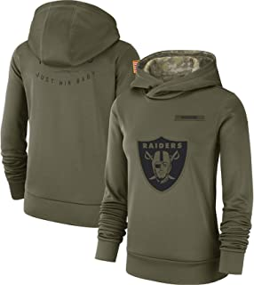 Oakland_Raiders_Women's_Olive_Salute_to_Service_Sideline_Therma_Performance_Pullover_Hoodie