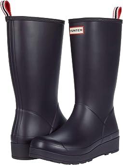 Hunter wide calf rain boots + FREE