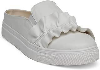 KANABIS Women's Frill Thrill-White Fashion Sandals