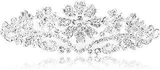 Pixnor Tiara nuziale corona capelli strass nuziale di cristallo fascia