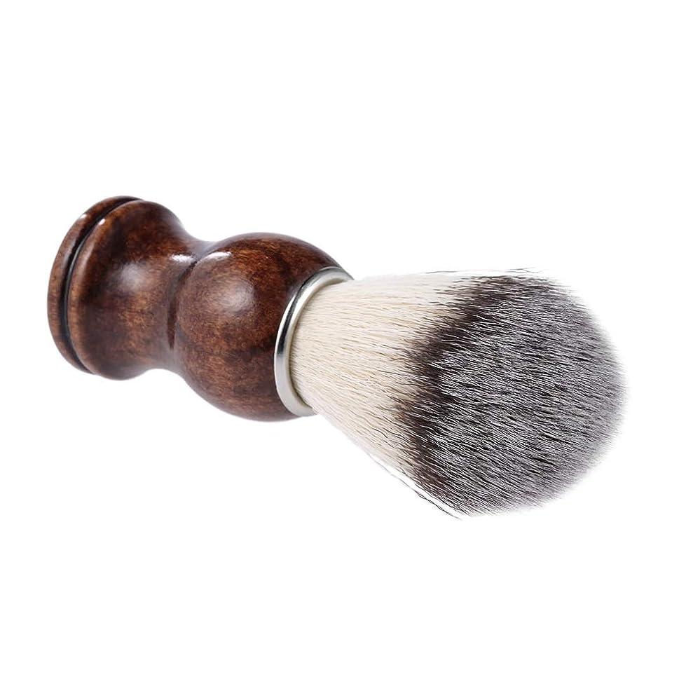 幼児異常アトムBeard Shaving Brush Shaving Cream Brush Wooden Handle Nylon Hair Shaving Razor Dusting Brush Facial Beard Cleaning Shave Tool