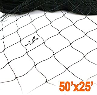 ZL Trees 25' X 50' Netting for Bird Poultry Aviary Game Pens New 2.4
