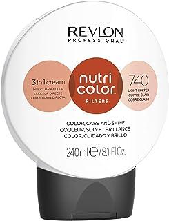 REVLON PROFESSIONAL Nutri Color Filters Maschera Colorata Capelli, Protettiva, Istantanea e Multidimensionale, Rame Chiaro...