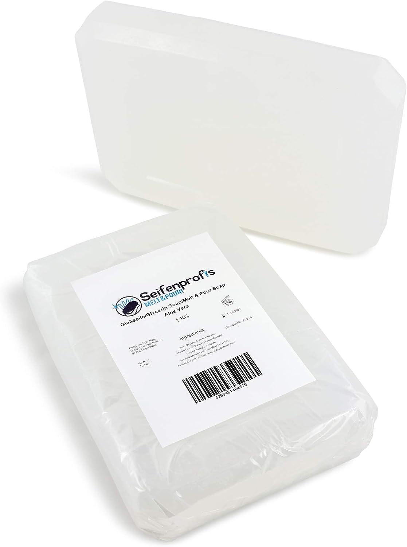 Seifenprofis, aloe vera, jabón de glicerina base, transparente (sin SLS)