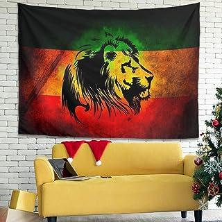 Hothotvery - Tapiz de tigre con diseño de lión animal, 100 x 150 cm