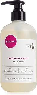 Natural Moisturizing Liquid Handwash by DANI Naturals - Juicy Passion Fruit Scented - Antibacterial Soap with Organic Aloe Vera - 12 Ounce Bottle Pump Dispenser
