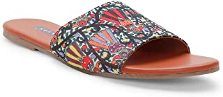 KANVAS Women Ethnic Colorful Bird Slip On Chappals