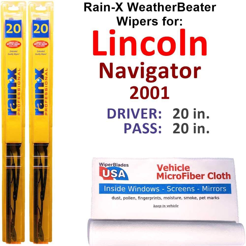 Rain-X WeatherBeater Quantity limited Sales of SALE items from new works Wiper Blades for Set Lincoln Navigator 2001